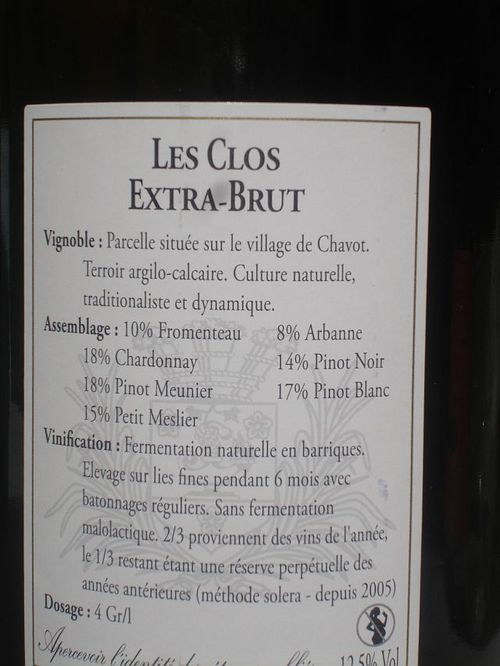 Les Clos Back Label